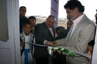 Cutting the ribbon - November 2011