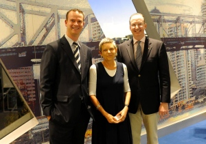Mark and Paul with Narelle Oliver