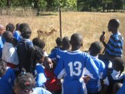 The students went on a tour of the zoo during the animal feeding time
