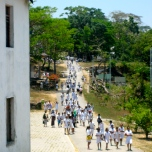 Children returning from classes in Soibada.